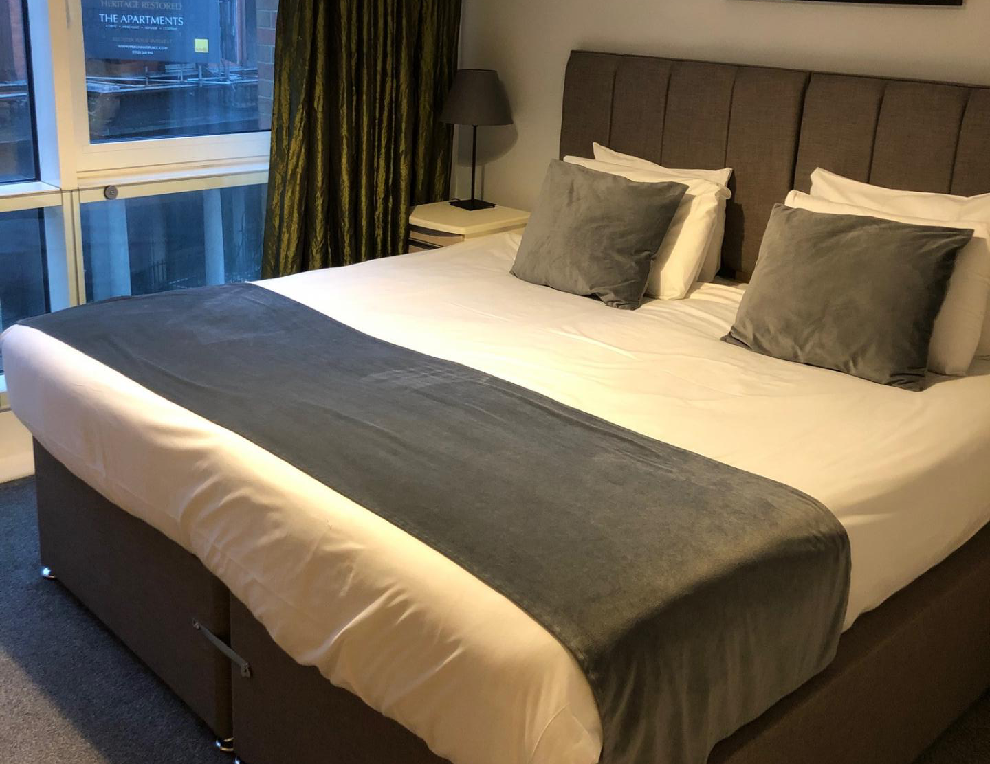 Bedroom at The Quayside Apartments, Atlantic Wharf, Cardiff - Citybase Apartments