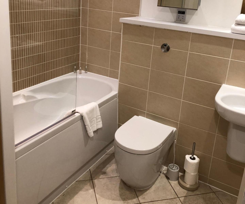 Bathroom at The Quayside Apartments, Atlantic Wharf, Cardiff - Citybase Apartments