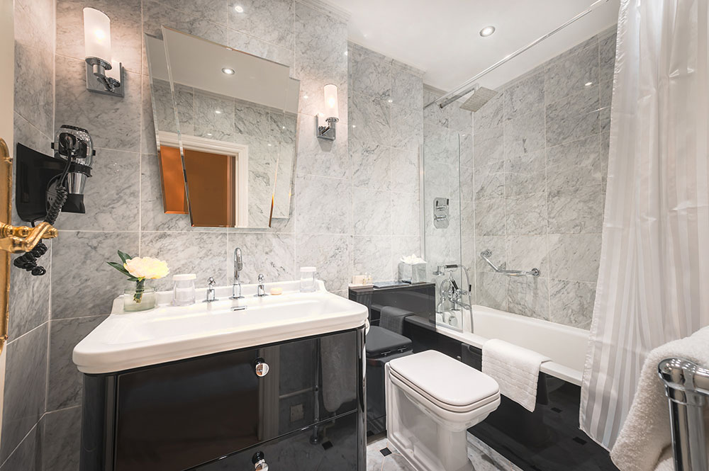Bathroom at 10 Curzon Street Apartments, Mayfair, London - Citybase Apartments