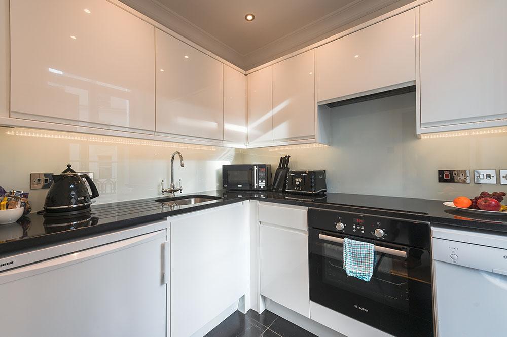 Kitchen at 10 Curzon Street Apartments, Mayfair, London - Citybase Apartments