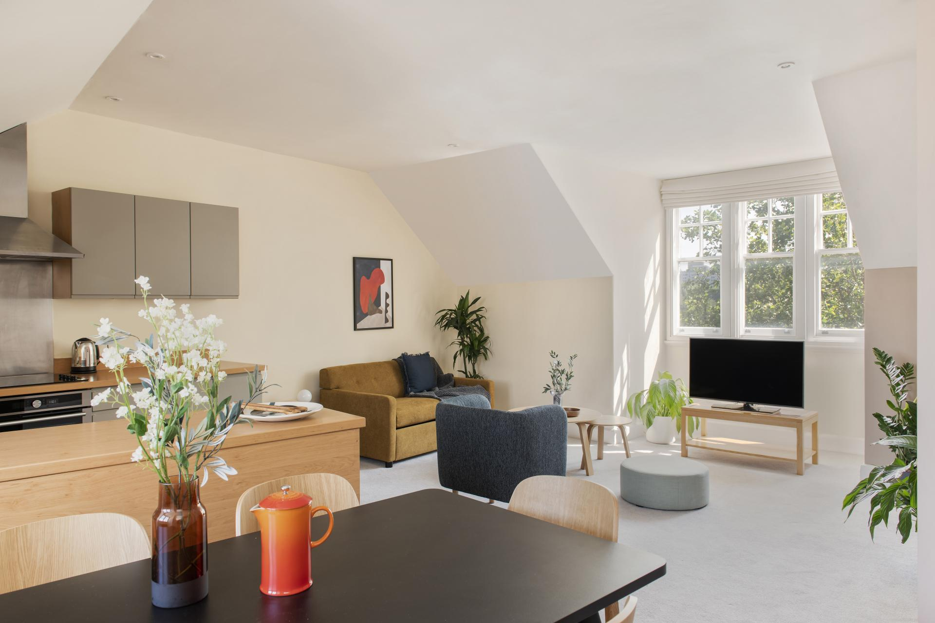 Living room at Cove West India House, Waterfront, Bristol - Citybase Apartments