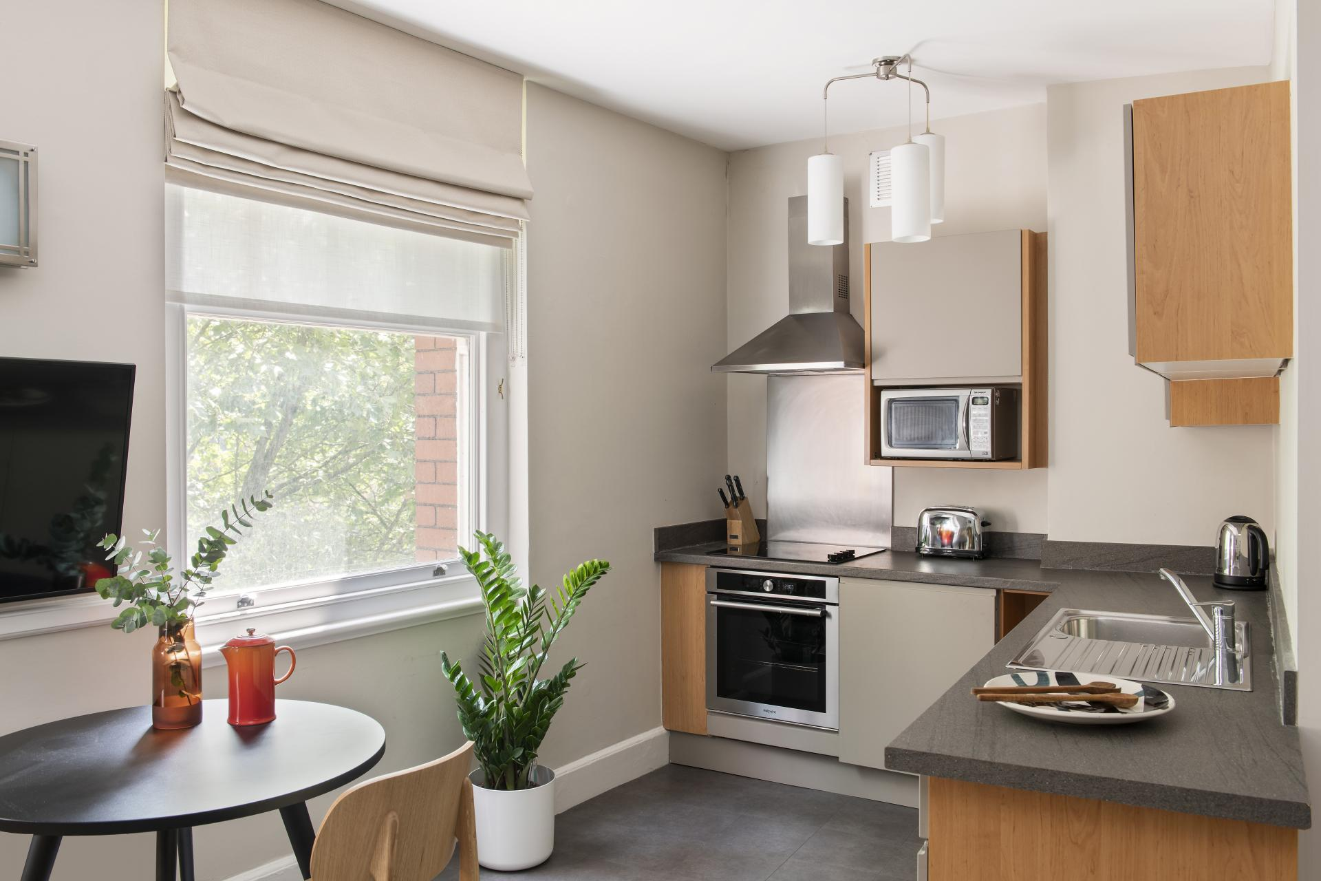 Kitchen at Cove West India House, Waterfront, Bristol - Citybase Apartments