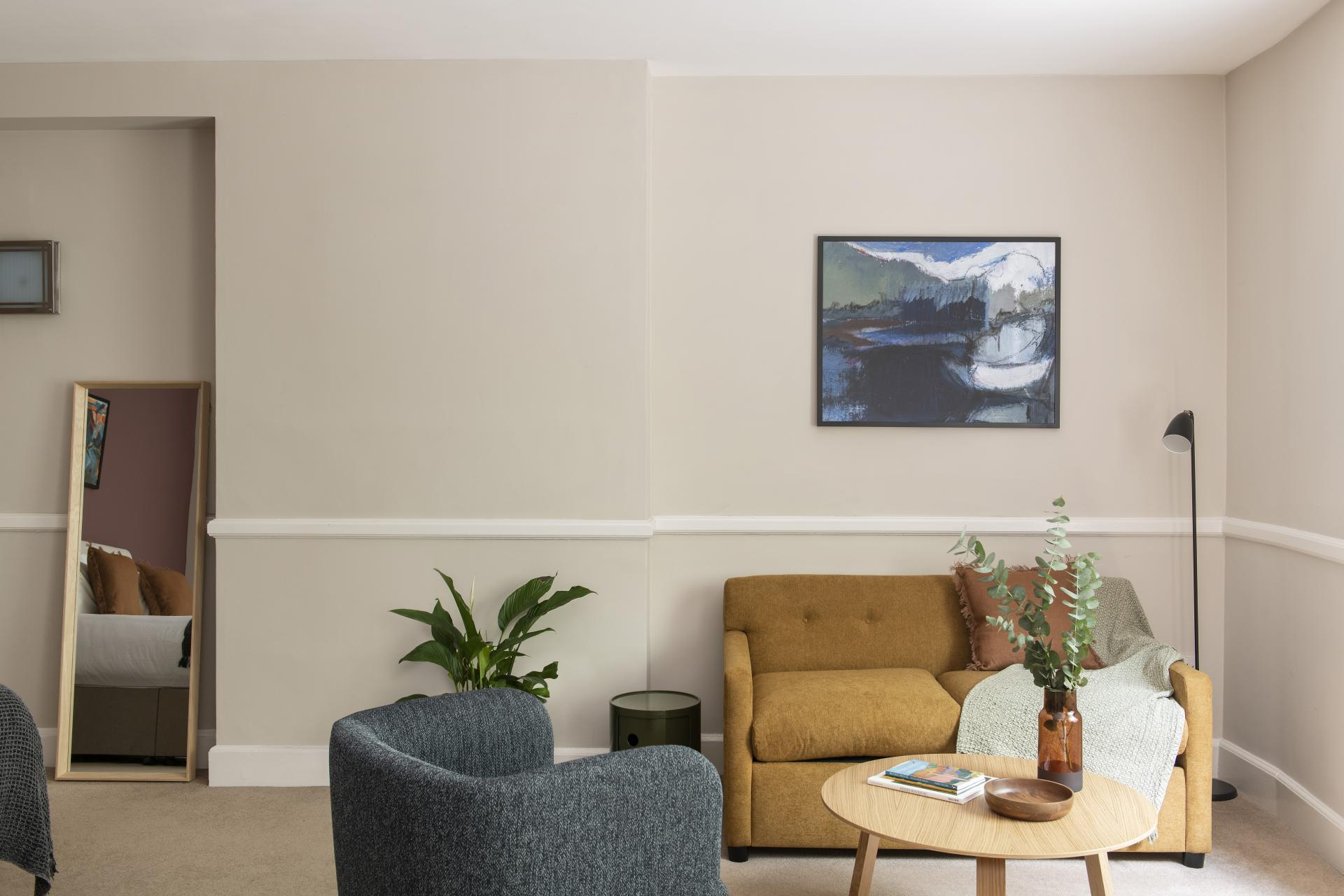 Sofa at Cove West India House, Waterfront, Bristol - Citybase Apartments