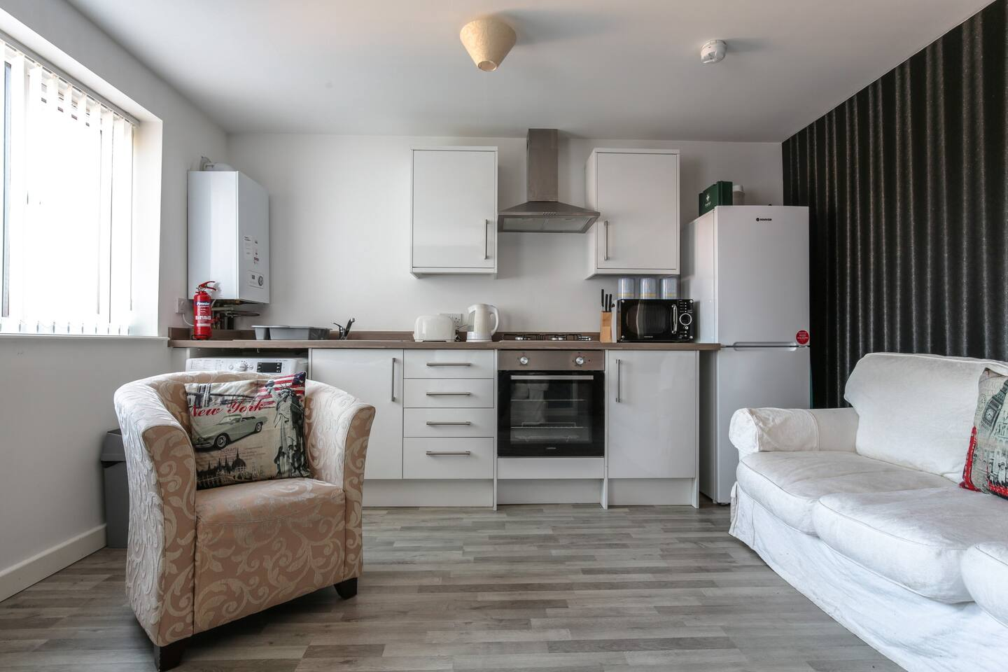 Kitchen at Young House, Vauxhall, Liverpool - Citybase Apartments