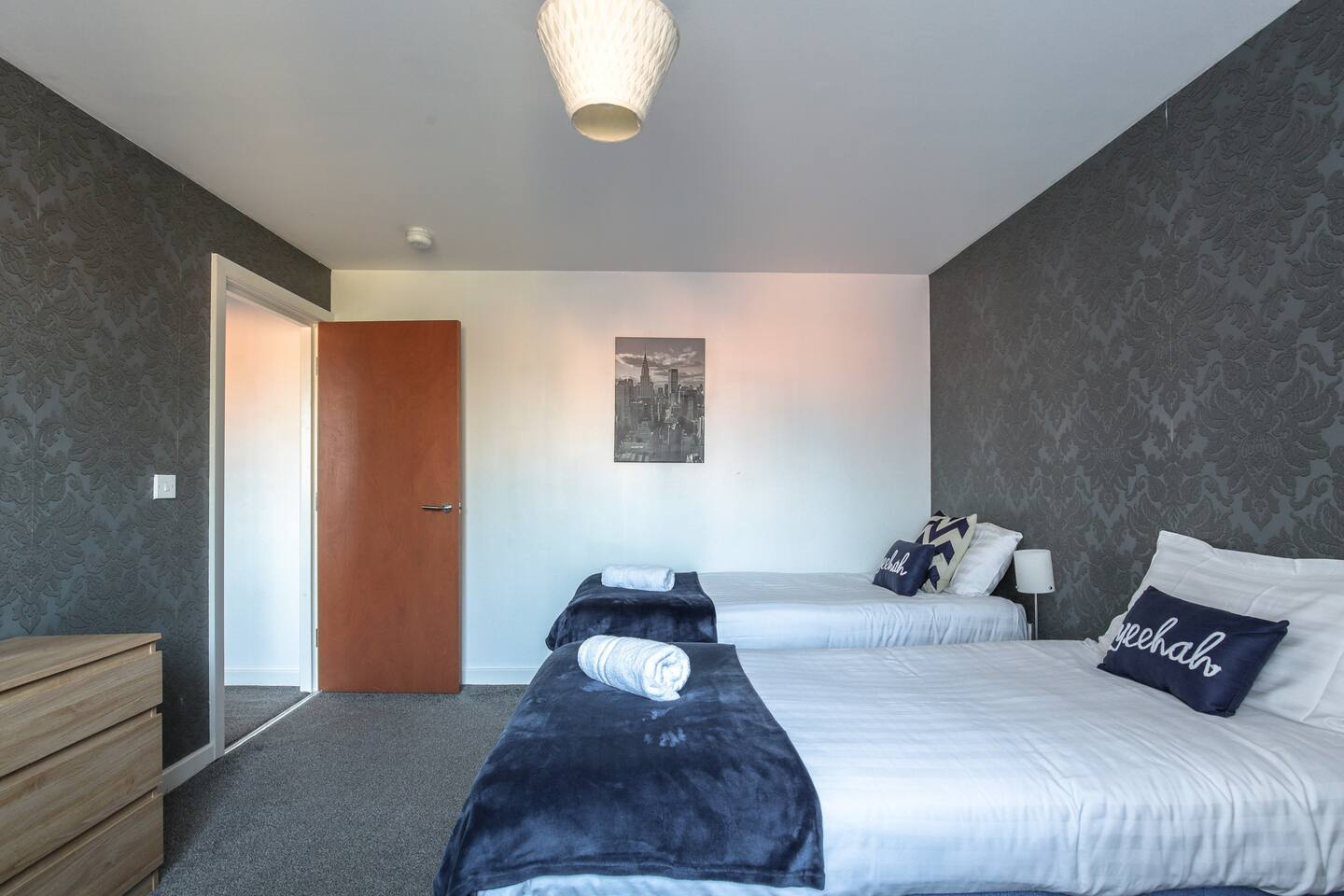 Single beds at Young House, Vauxhall, Liverpool - Citybase Apartments