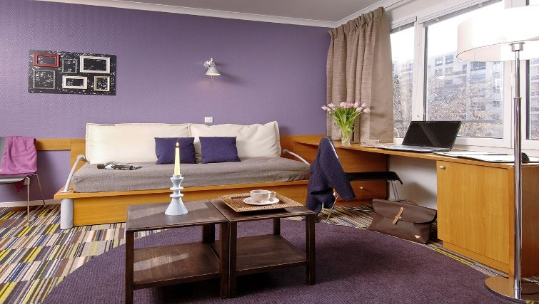 Pleasant living area in Adagio Porte de Versailles - Citybase Apartments