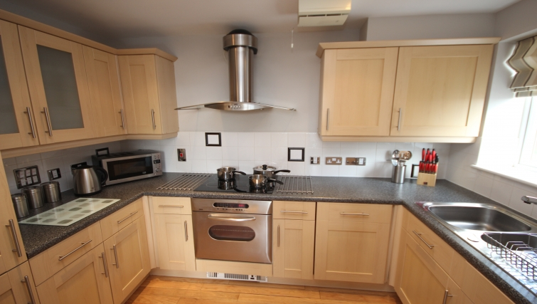 Contemporary kitchen in High Quays Apartments - Citybase Apartments