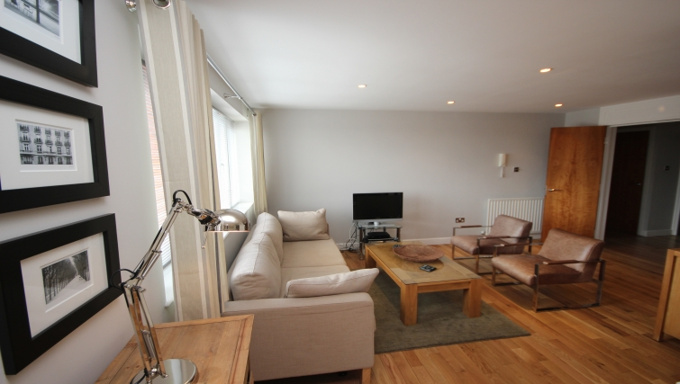 Living area in High Quays Apartments - Citybase Apartments