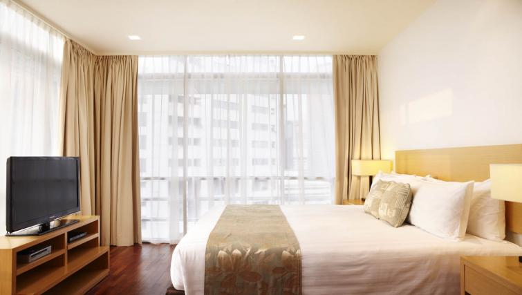 Clean bedroom at PARKROYAL Serviced Suites Kuala Lumpur - Citybase Apartments