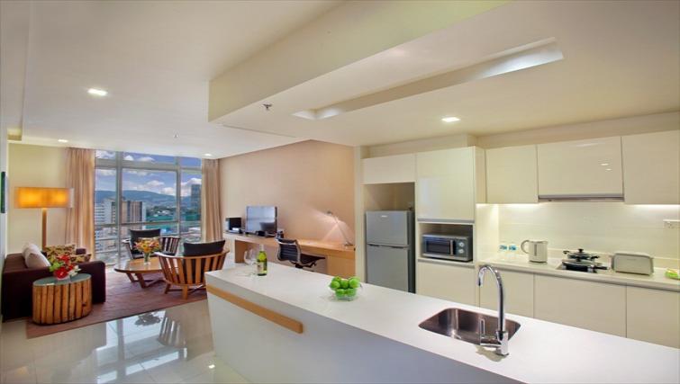 Modern kitchen at PARKROYAL Serviced Suites Kuala Lumpur - Citybase Apartments