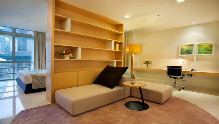 Open living area at PARKROYAL Serviced Suites Kuala Lumpur - Citybase Apartments