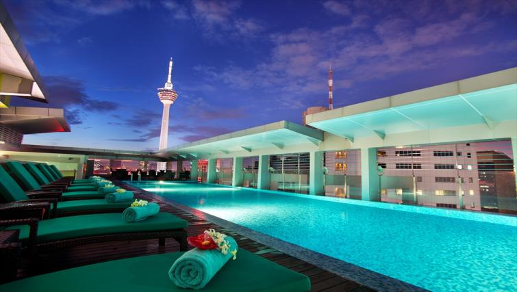 Swimming pool at PARKROYAL Serviced Suites Kuala Lumpur - Citybase Apartments