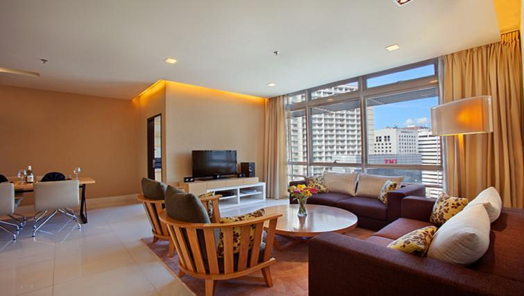 Living space at PARKROYAL Serviced Suites Kuala Lumpur - Citybase Apartments