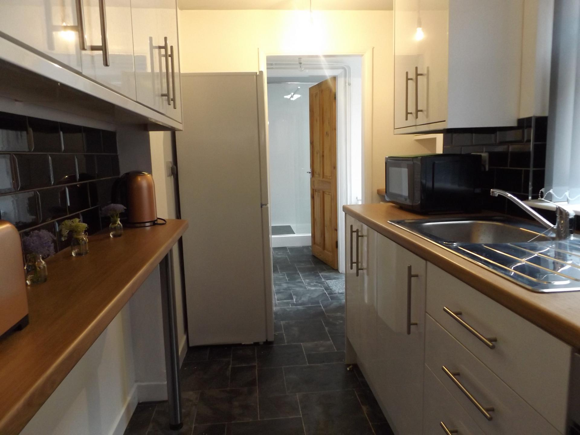 Kitchen at Leicester City House, Aylestone, Leicester - Citybase Apartments