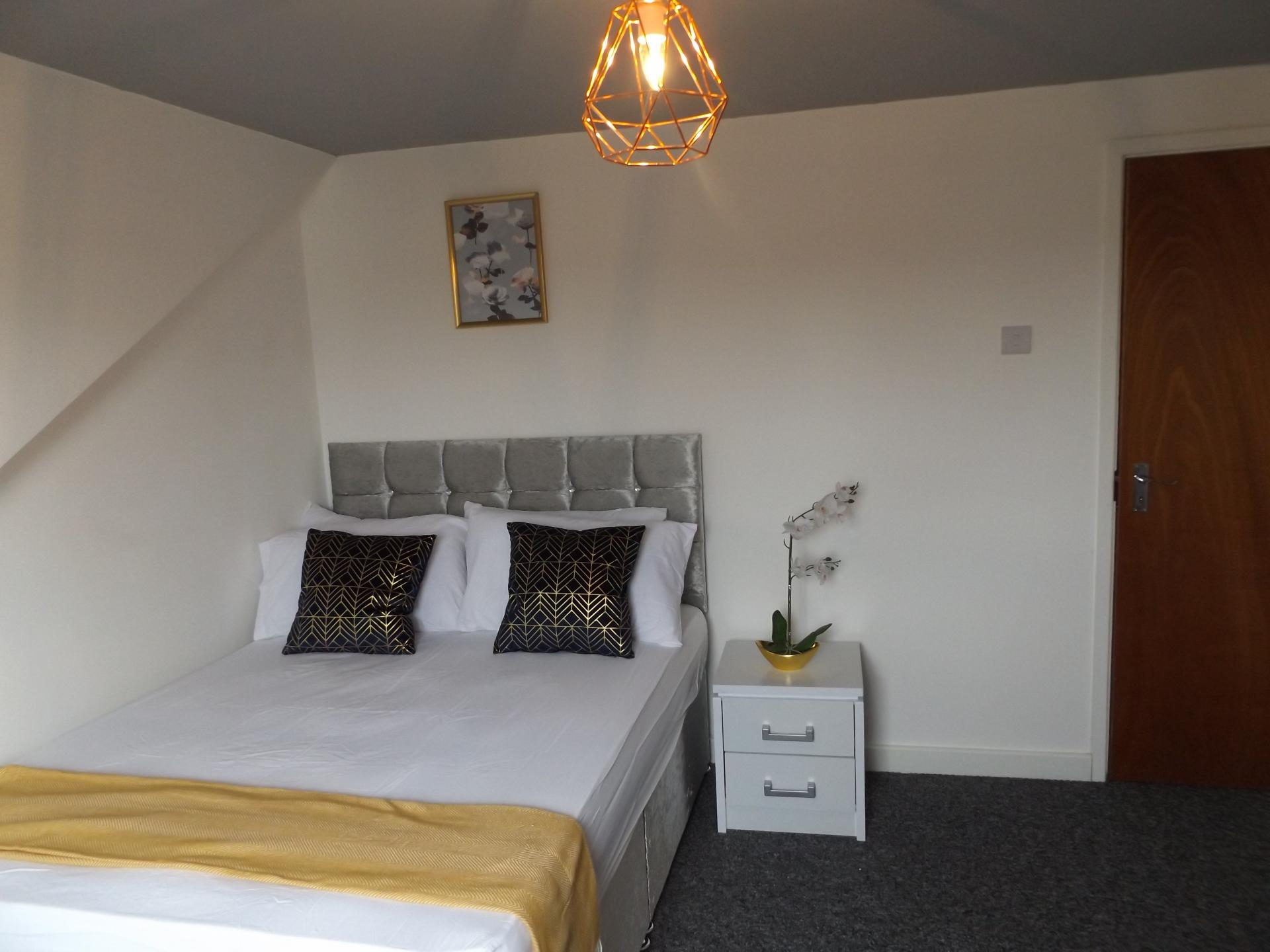 Bedroom at Leicester City House, Aylestone, Leicester - Citybase Apartments