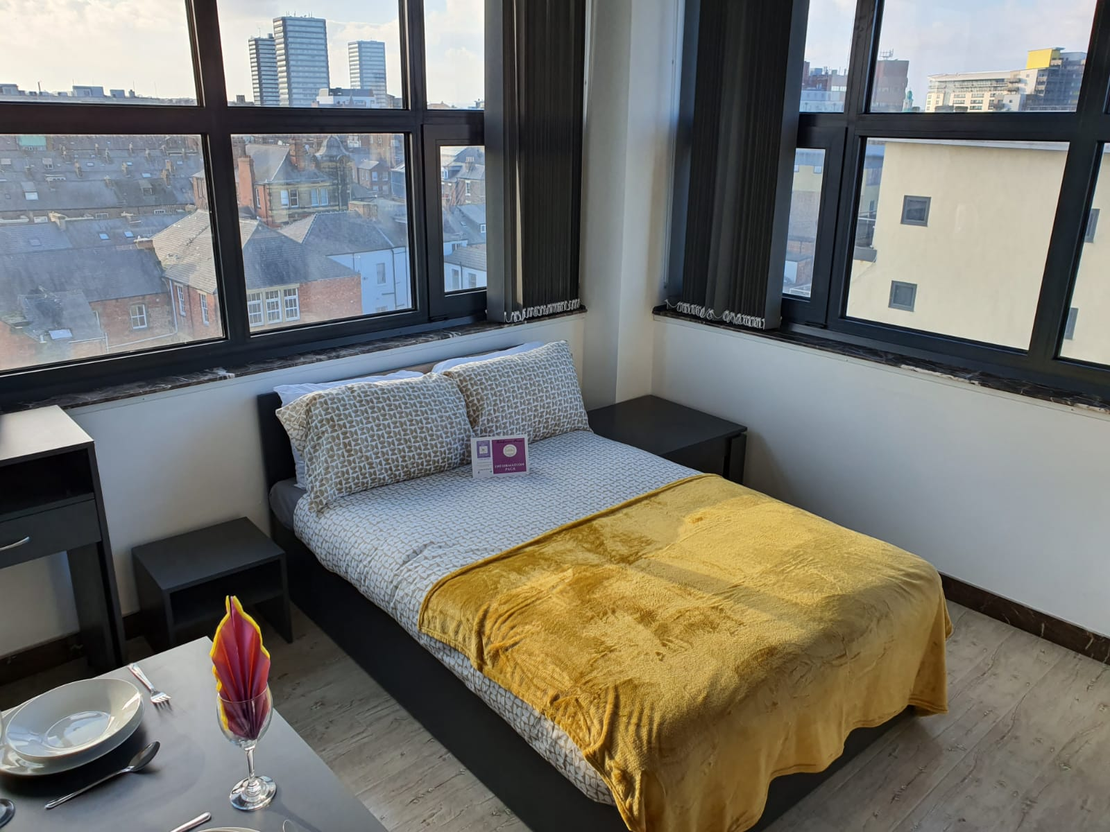 Bed at Sunderland Central Studios, Centre, Sunderland - Citybase Apartments