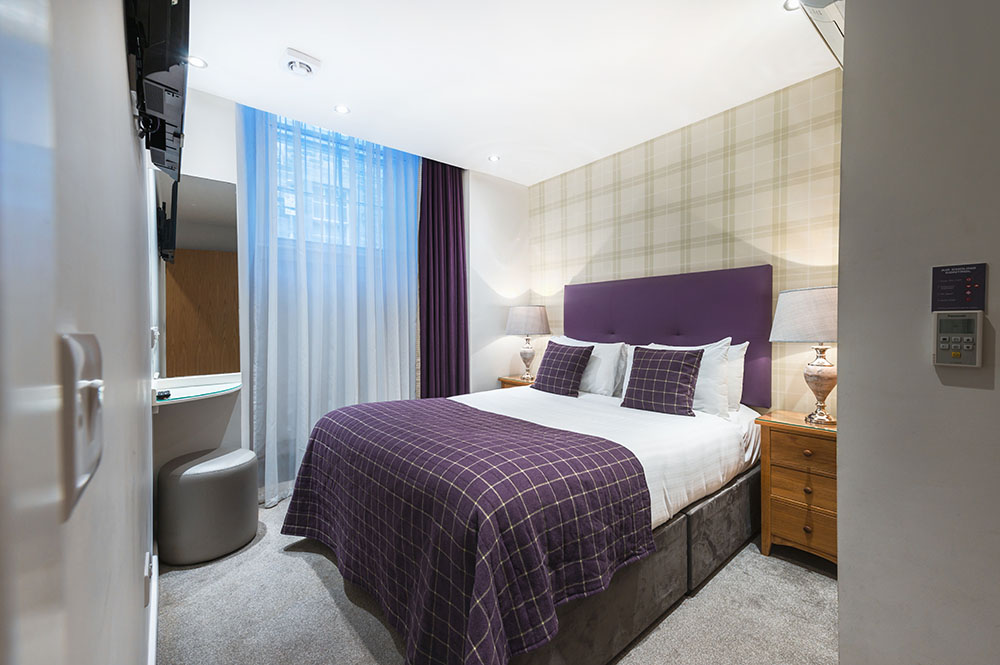Bedroom at Thistle Street Braid Apartments, Centre, Edinburgh - Citybase Apartments