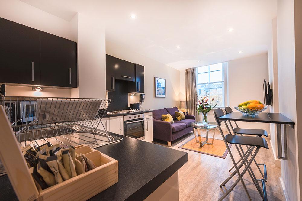 Open-plan at Thistle Street Braid Apartments, Centre, Edinburgh - Citybase Apartments