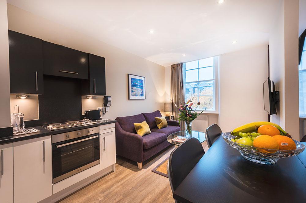 Kitchen at Thistle Street Braid Apartments, Centre, Edinburgh - Citybase Apartments