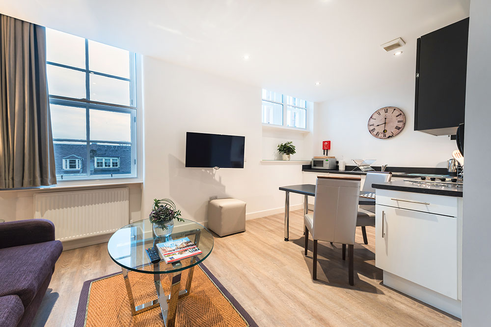 Dining area at Thistle Street Braid Apartments, Centre, Edinburgh - Citybase Apartments