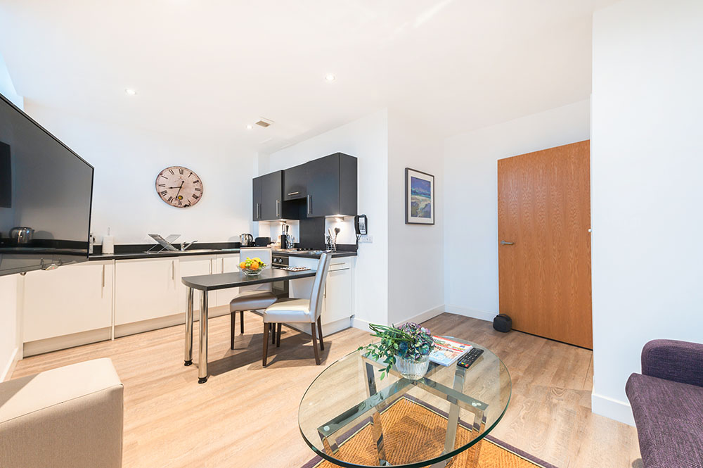 Kitchen diner at Thistle Street Braid Apartments, Centre, Edinburgh - Citybase Apartments