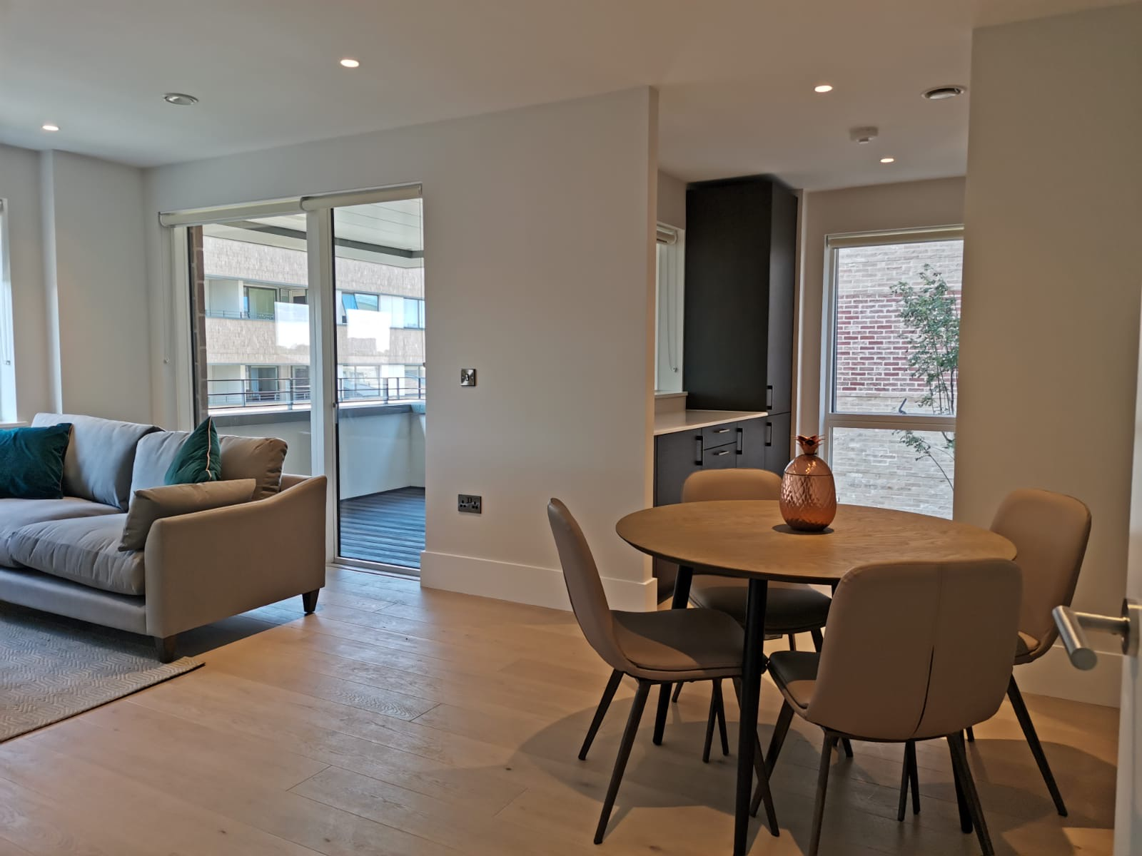 Living area at Heathrow North Apartments, Hounslow, London - Citybase Apartments