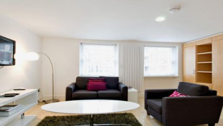 Attractive living area in 38 James Street - Citybase Apartments