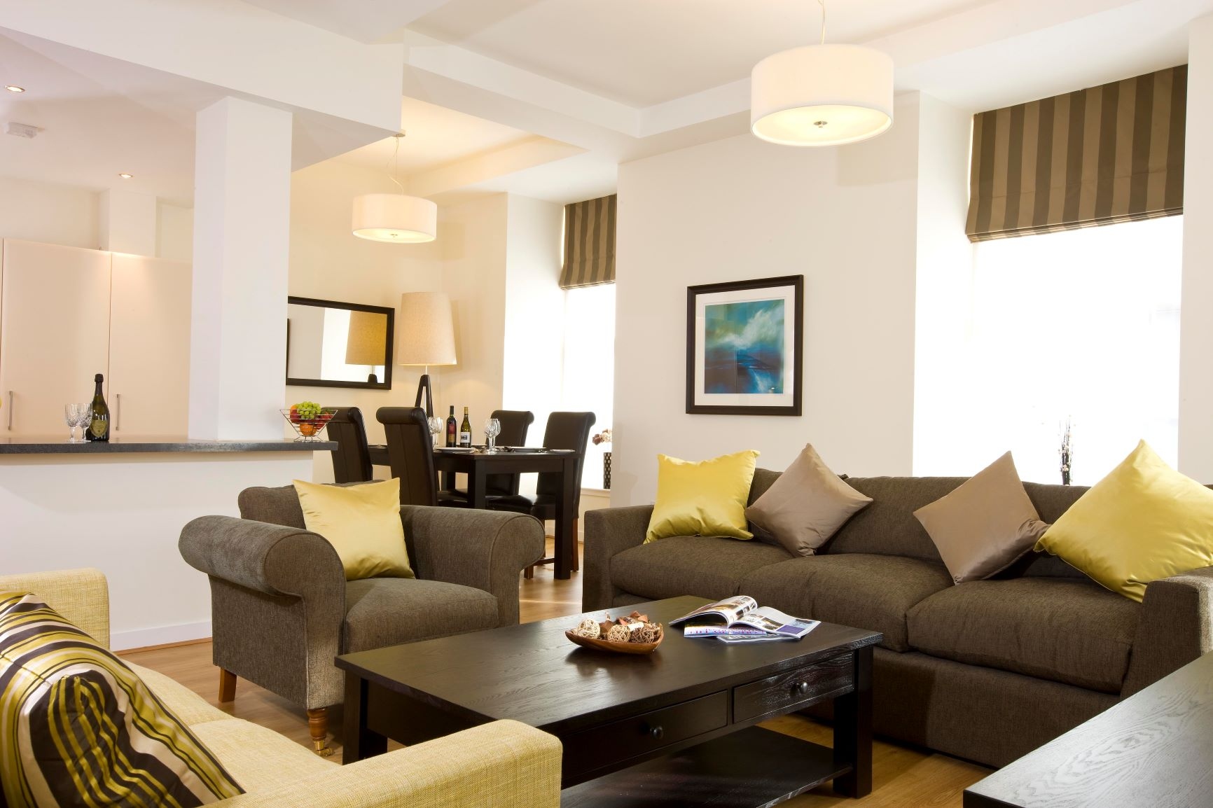 Living area at Inverness High Street Apartments, Centre, Inverness - Citybase Apartments