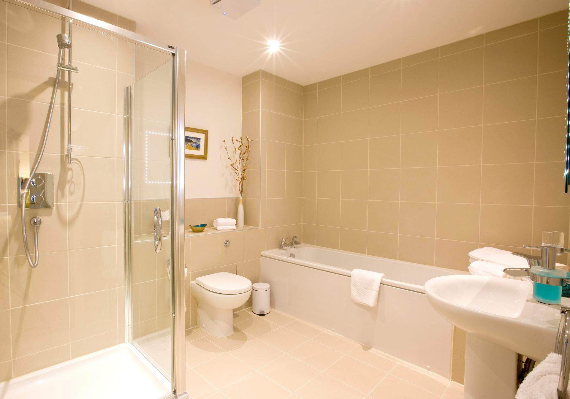 Bathroom at Inverness High Street Apartments, Centre, Inverness - Citybase Apartments
