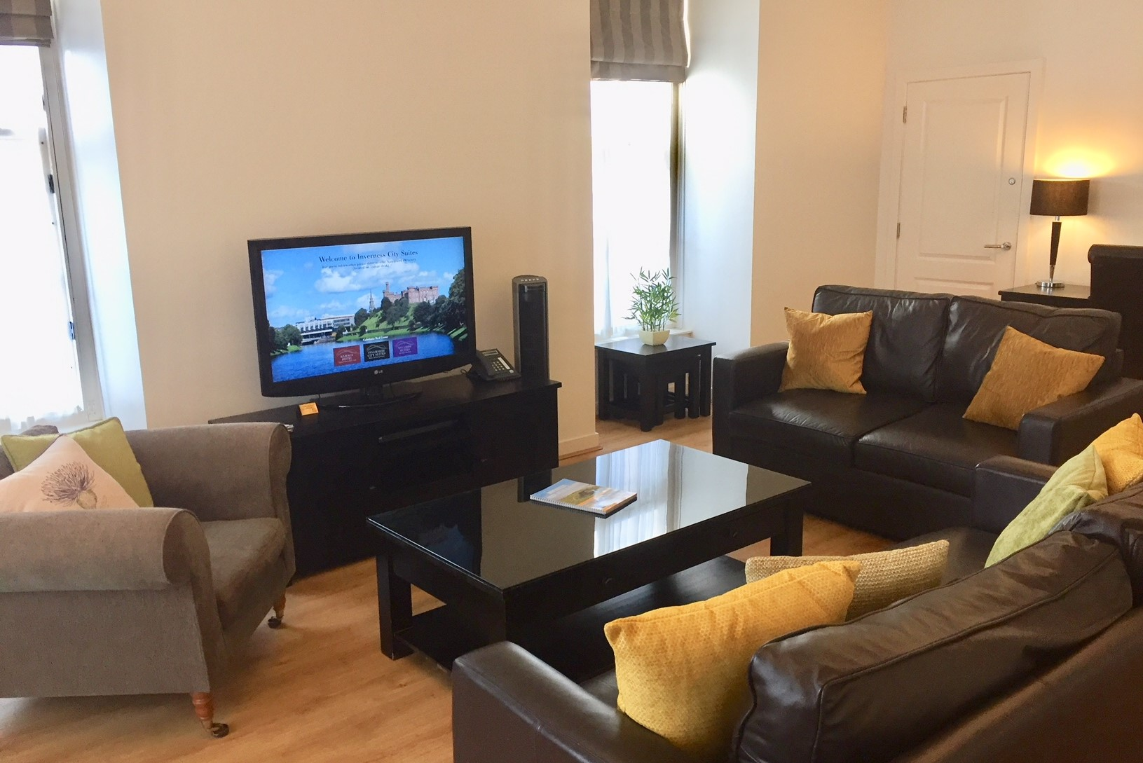 TV at Inverness High Street Apartments, Centre, Inverness - Citybase Apartments