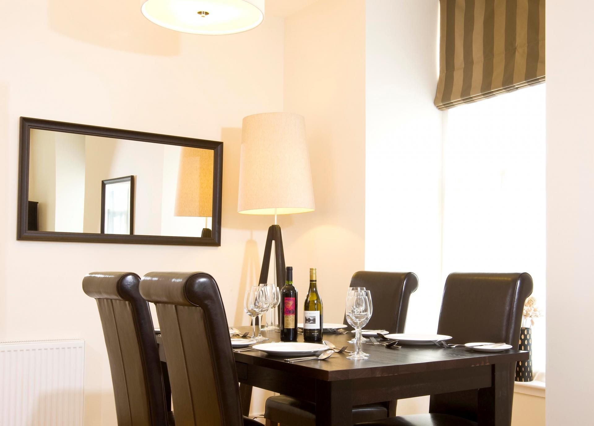 Dining area at Inverness High Street Apartments, Centre, Inverness - Citybase Apartments