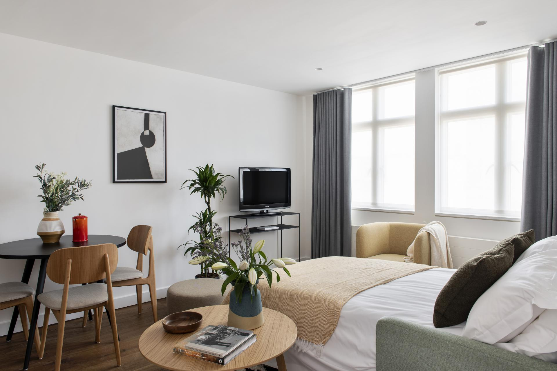 Sofa bed at Cove St Martin's, Covent Garden, London - Citybase Apartments