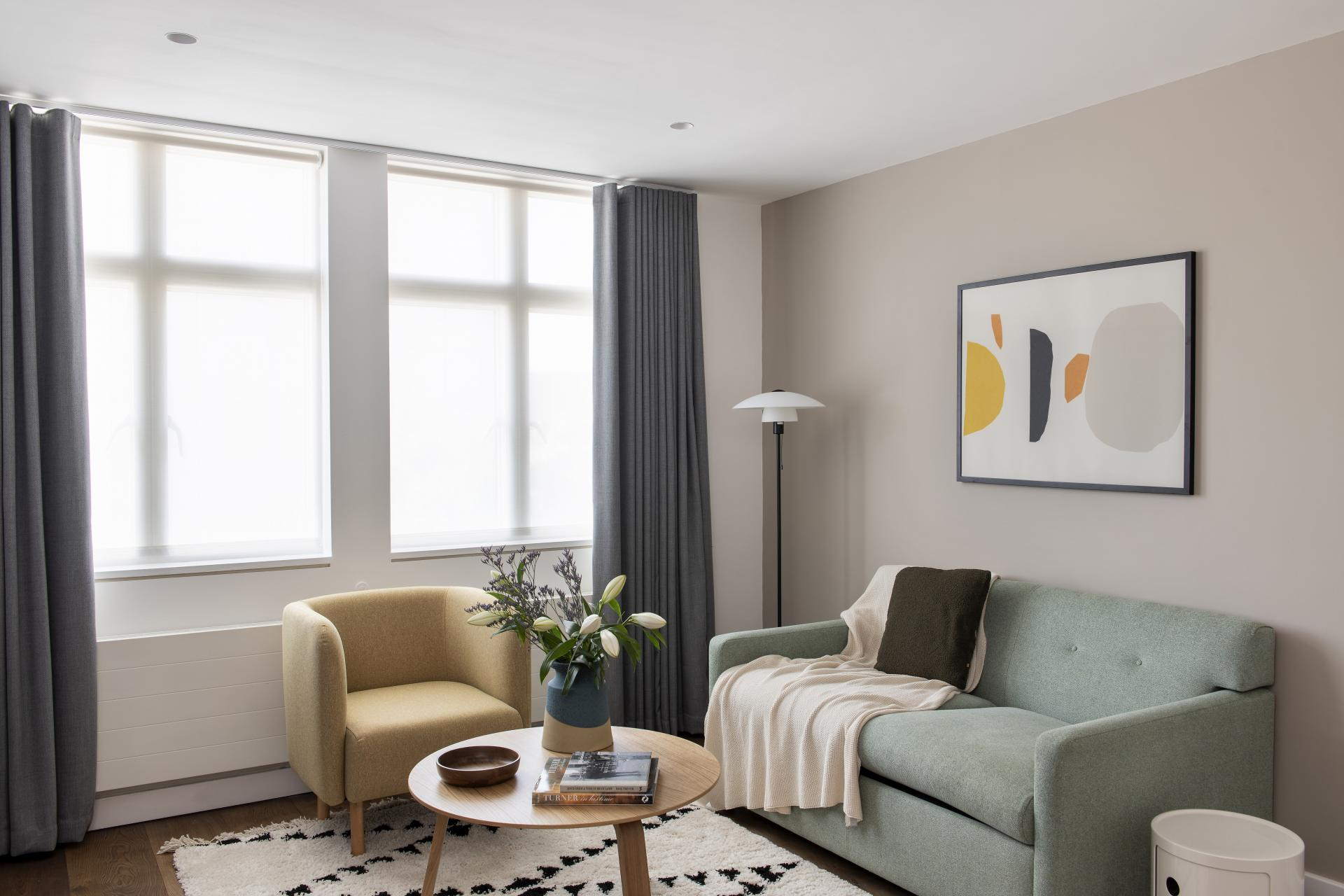 Sofa at Cove St Martin's, Covent Garden, London - Citybase Apartments