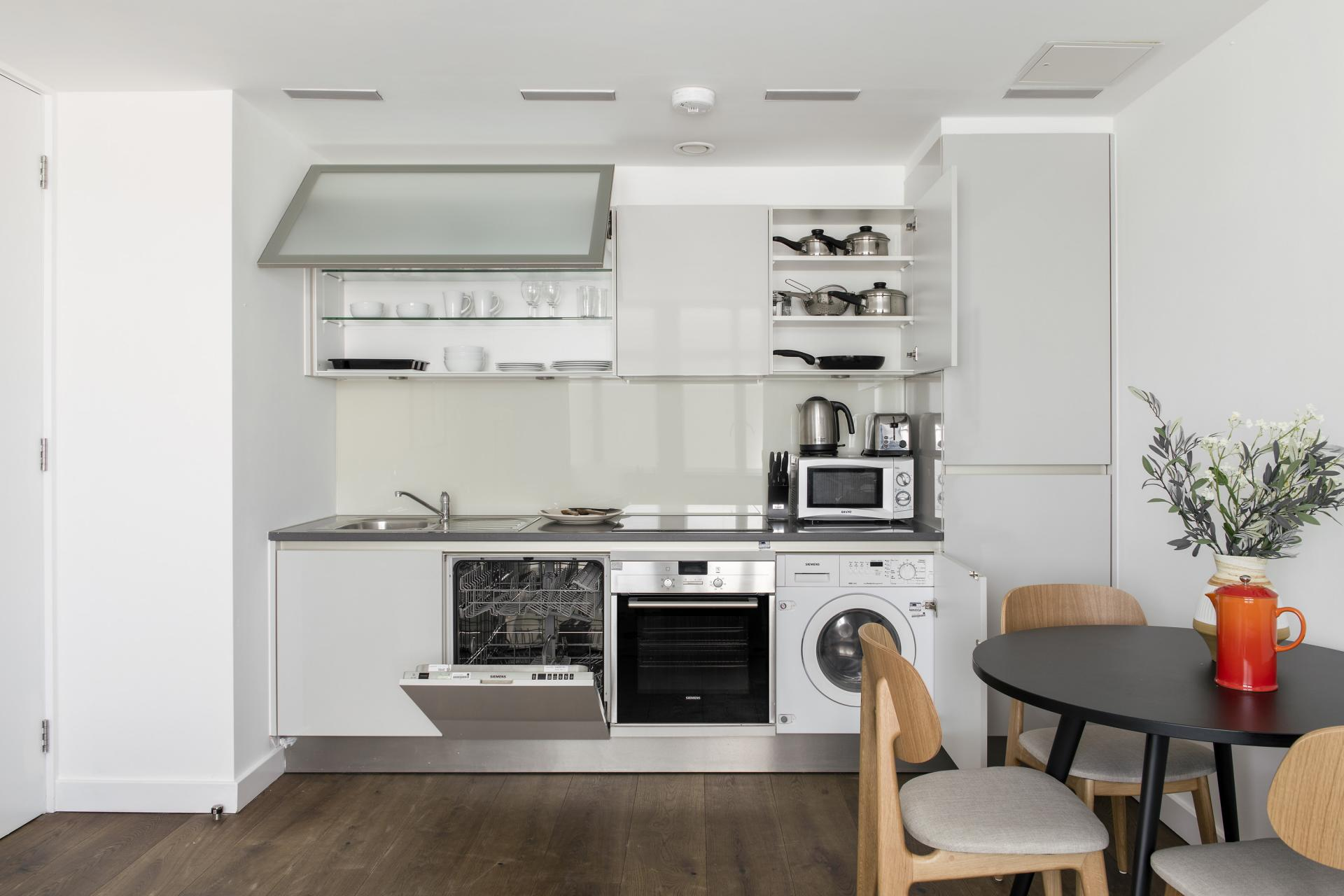 Equipped kitchen at Cove St Martin's, Covent Garden, London - Citybase Apartments
