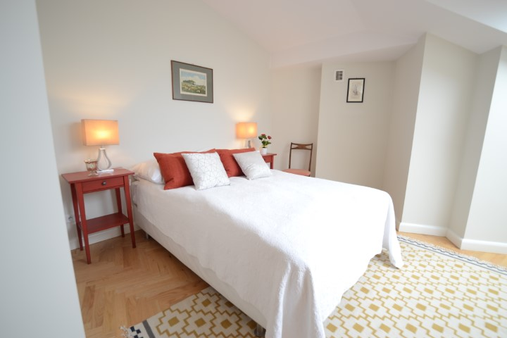 Double bed at Krakow Old Town Apartments - Citybase Apartments