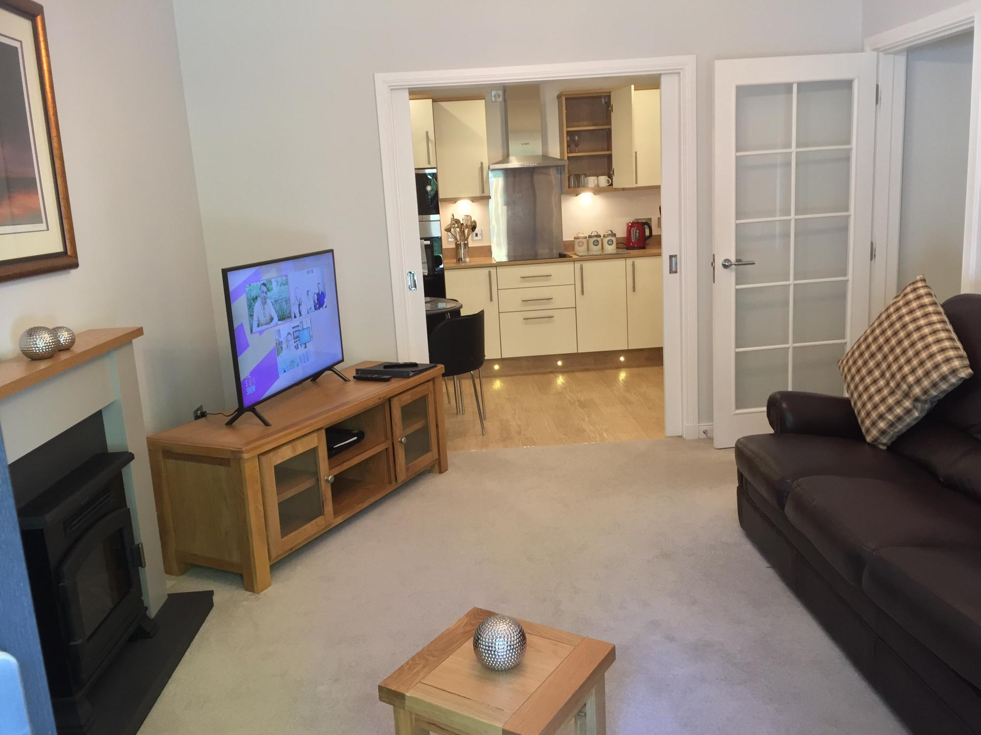Living area at Hedgefield Apartments, Centre, Inverness - Citybase Apartments