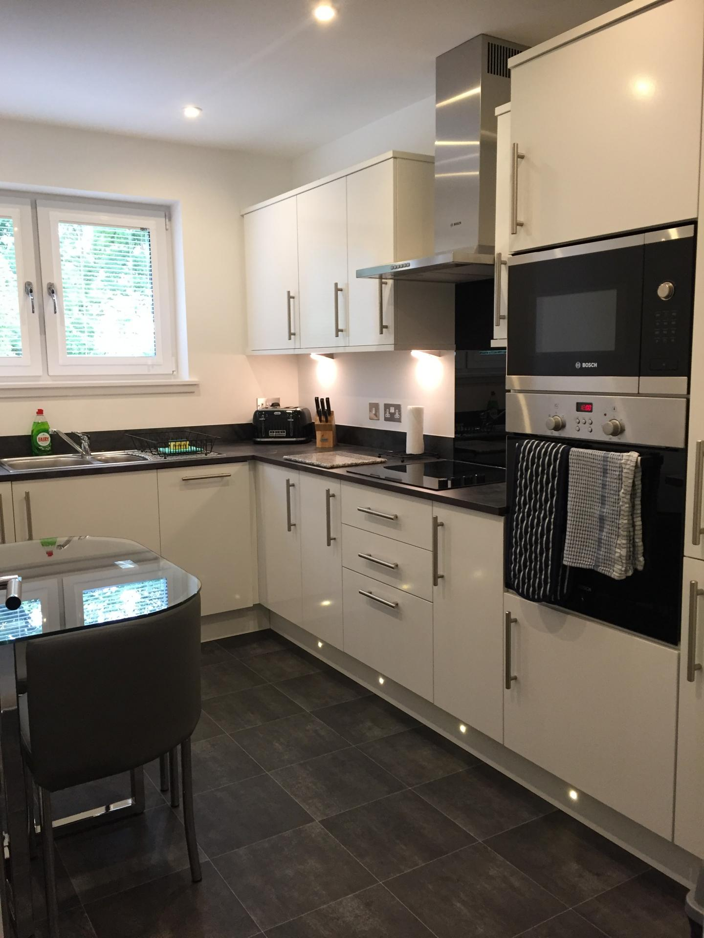 Modern kitchen at Hedgefield Apartments, Centre, Inverness - Citybase Apartments