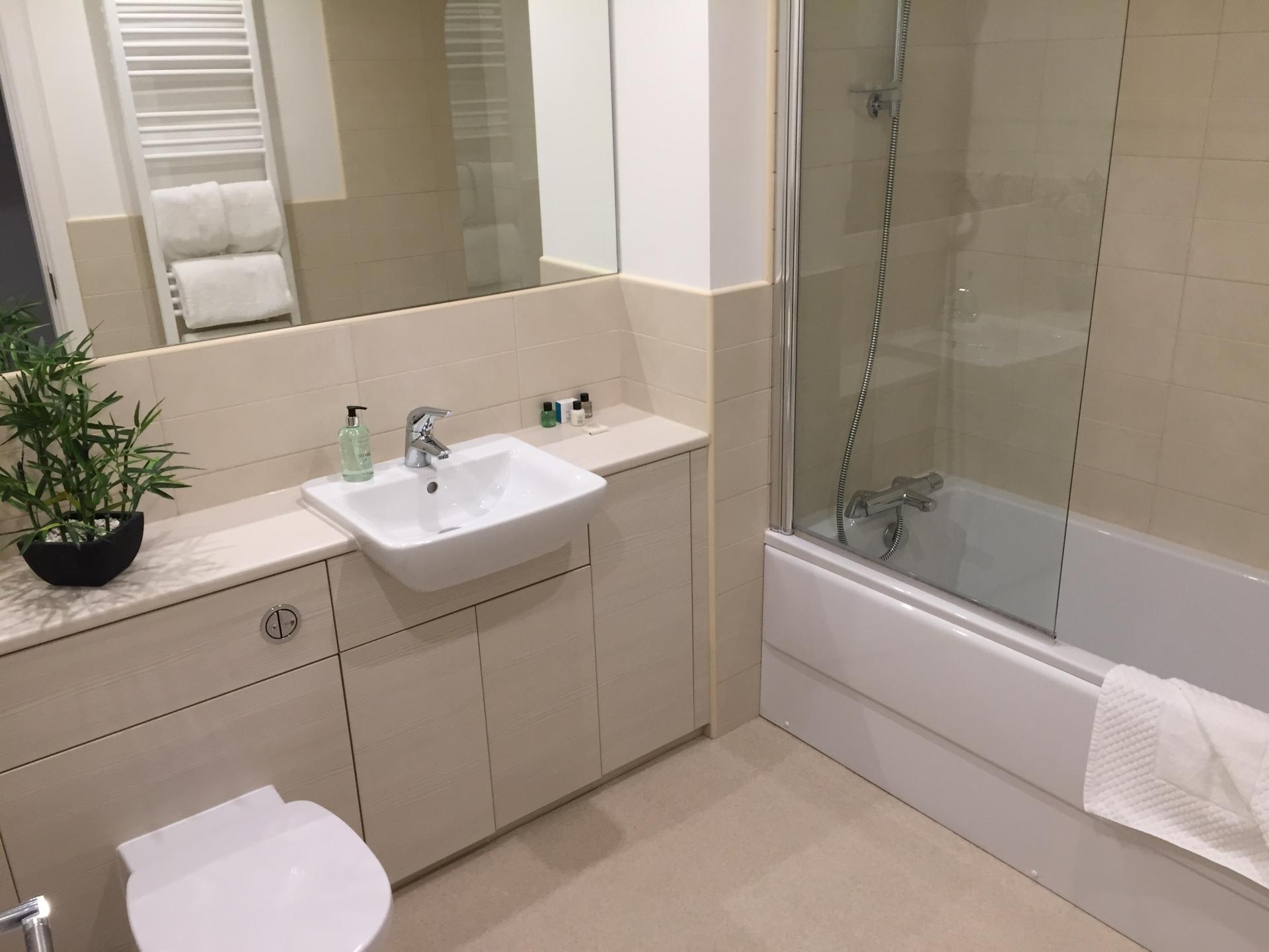 Bathroom at Hedgefield Apartments, Centre, Inverness - Citybase Apartments