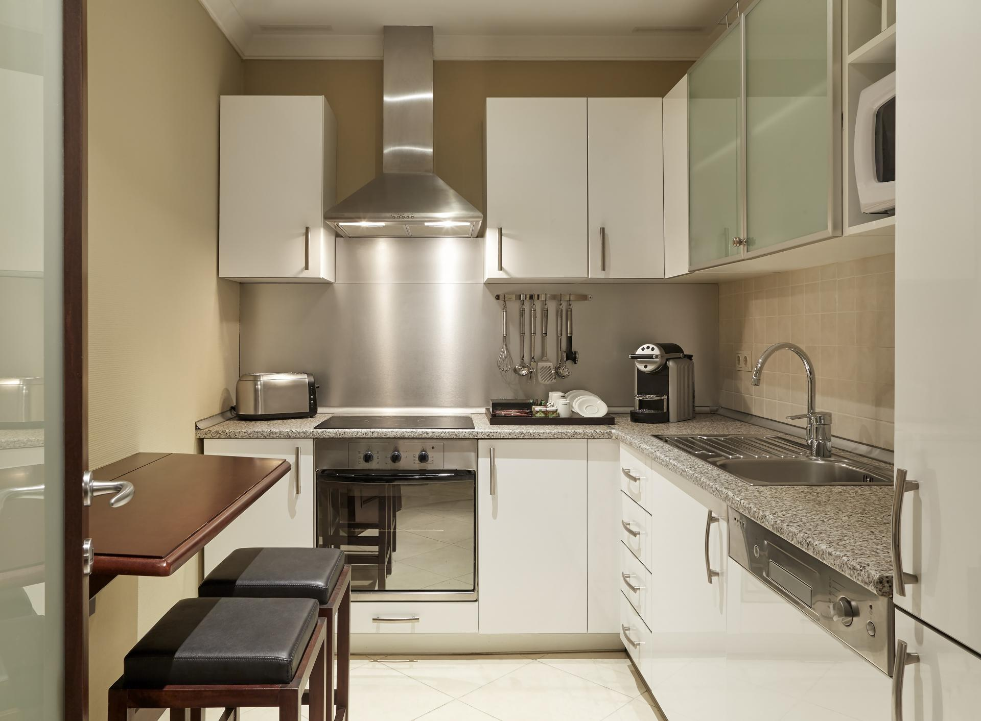 Kitchen at Corinthia Hotel and Apartments Budapest, Centre, Budapest - Citybase Apartments