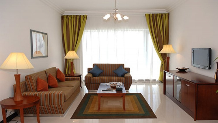 Attractive living area in Metro Deira Apartments - Citybase Apartments