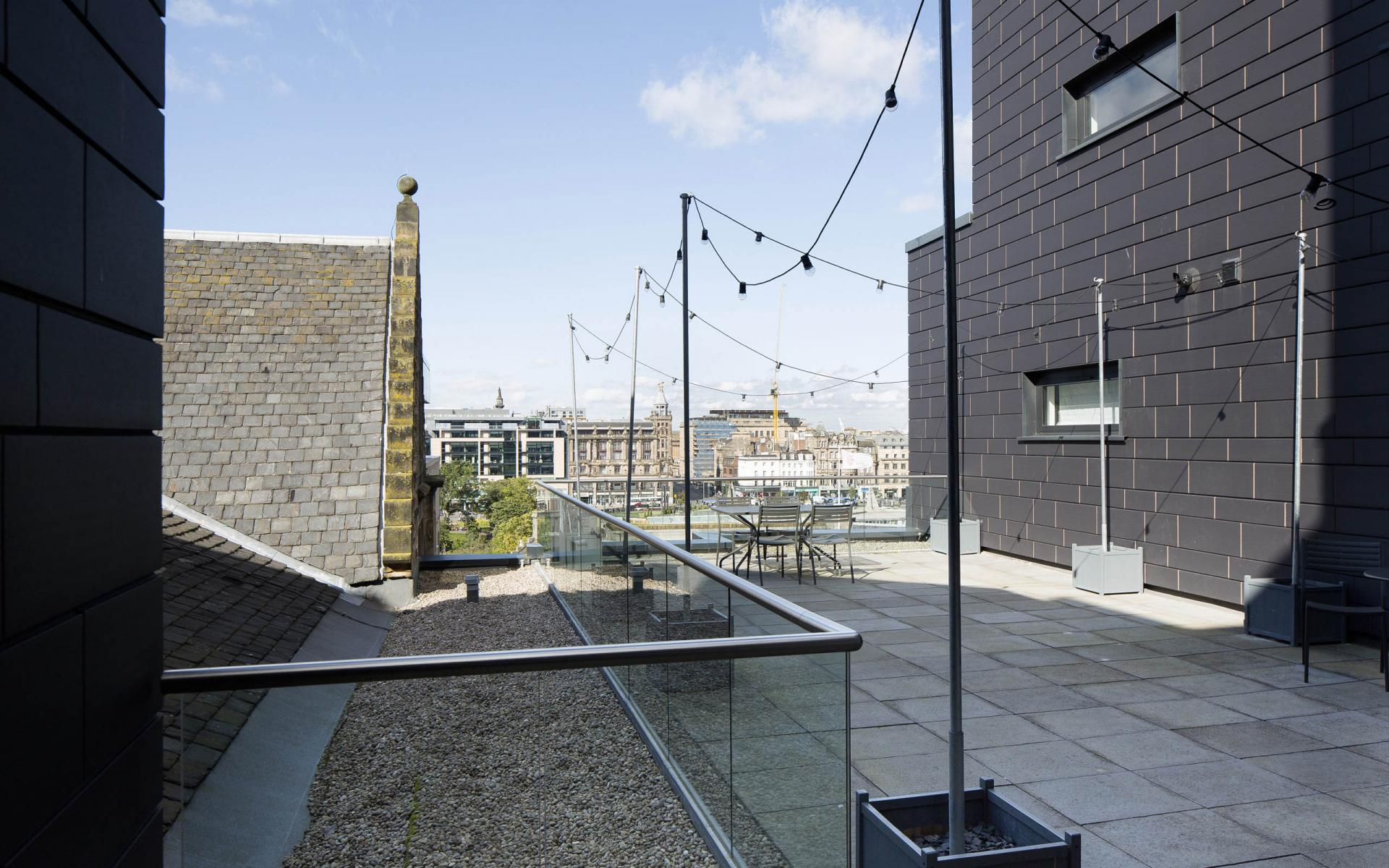 Terrace at Cheval Old Town Chambers, Old Town, Edinburgh - Citybase Apartments