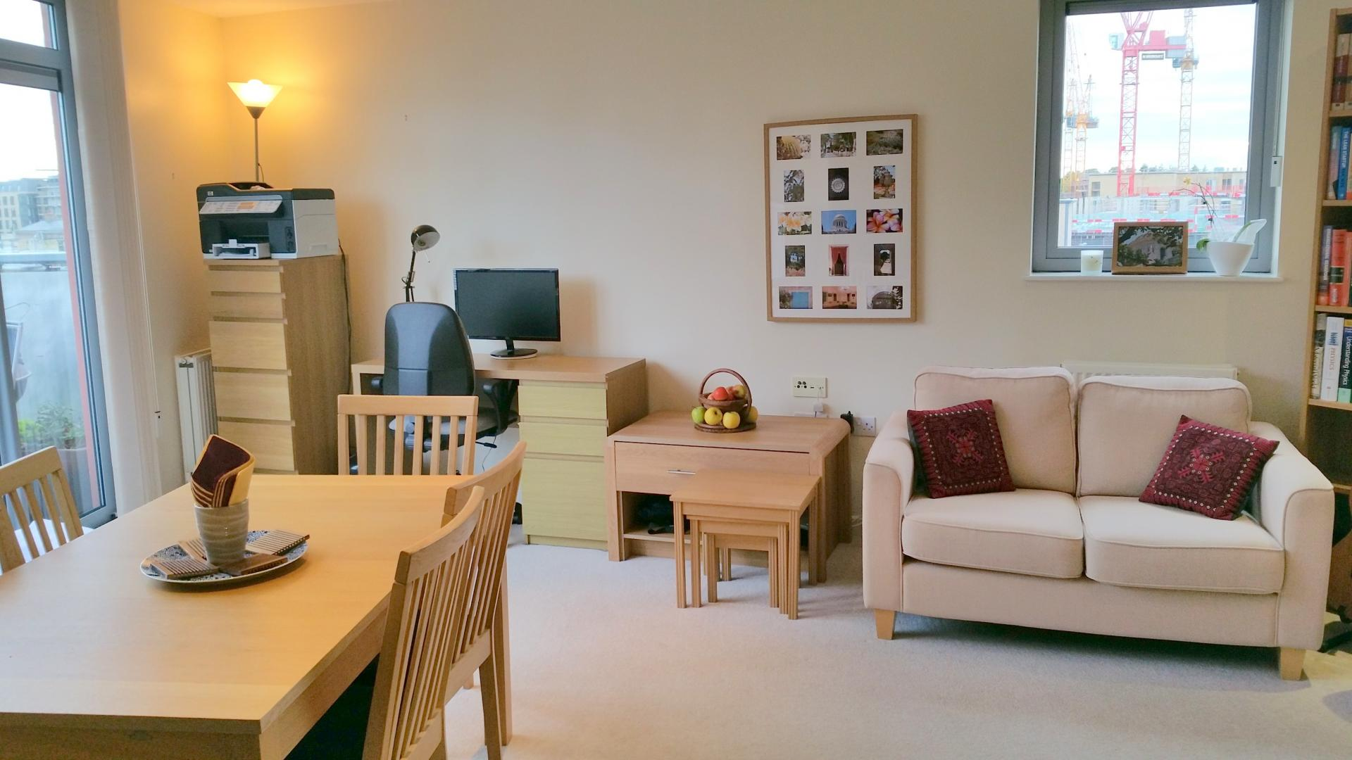 Open plan living area Central Station Apartment, Mill Road, Cambridge - Citybase Apartments