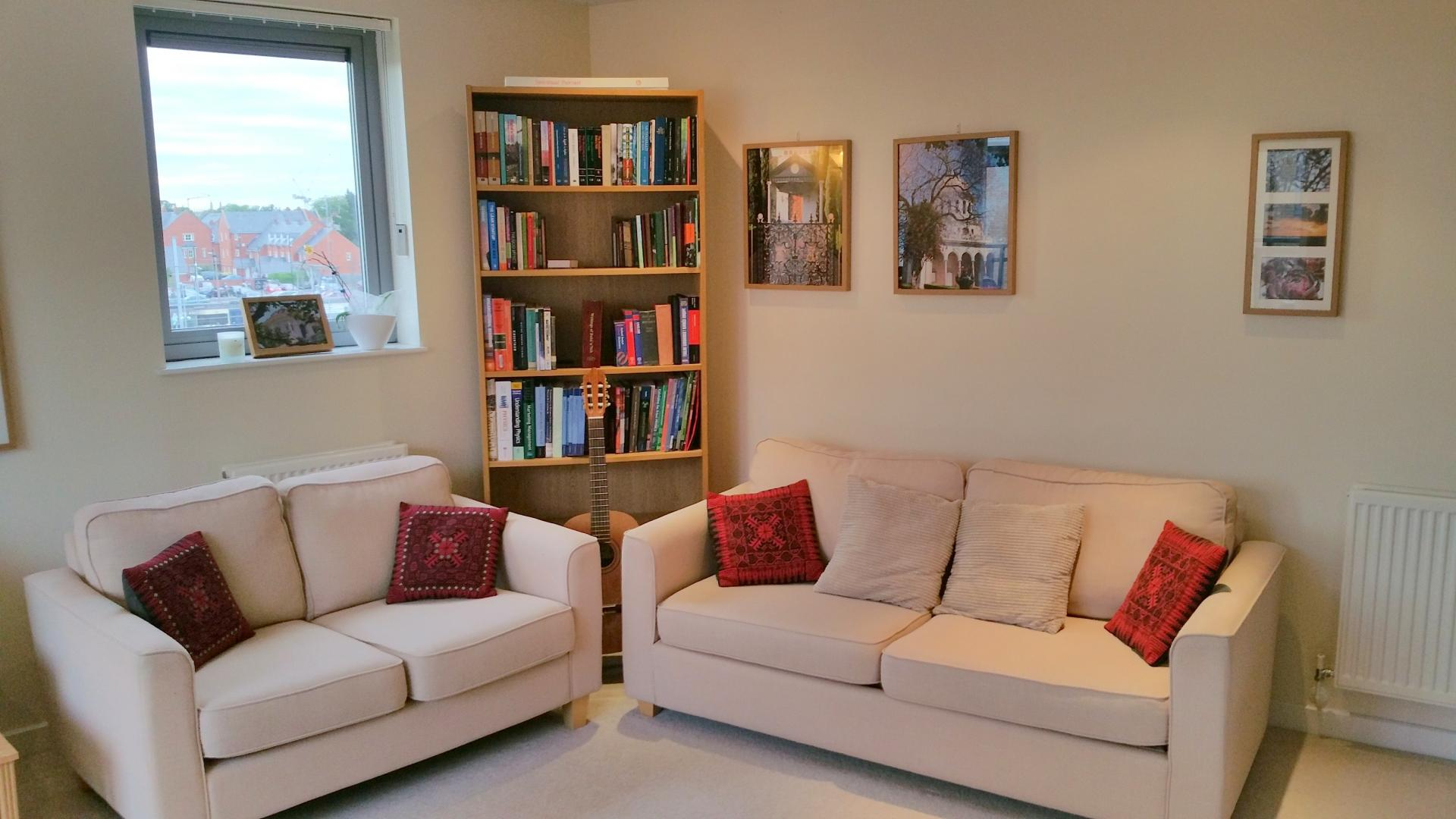 Cosy sofas at Central Station Apartment, Mill Road, Cambridge - Citybase Apartments