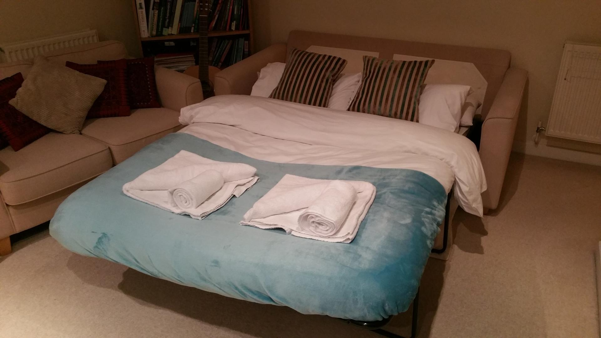Sofa bed at Central Station Apartment, Mill Road, Cambridge - Citybase Apartments