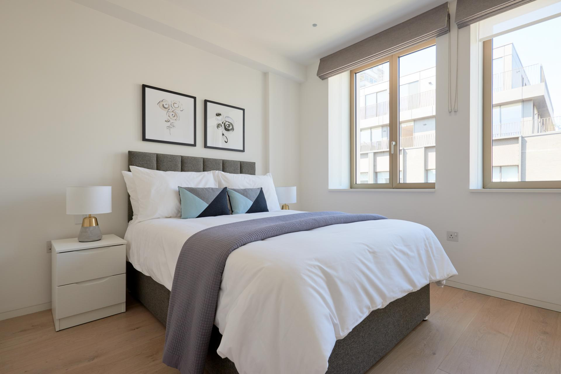 Bedroom at Great Portland Street Apartments, Fitzrovia, London - Citybase Apartments
