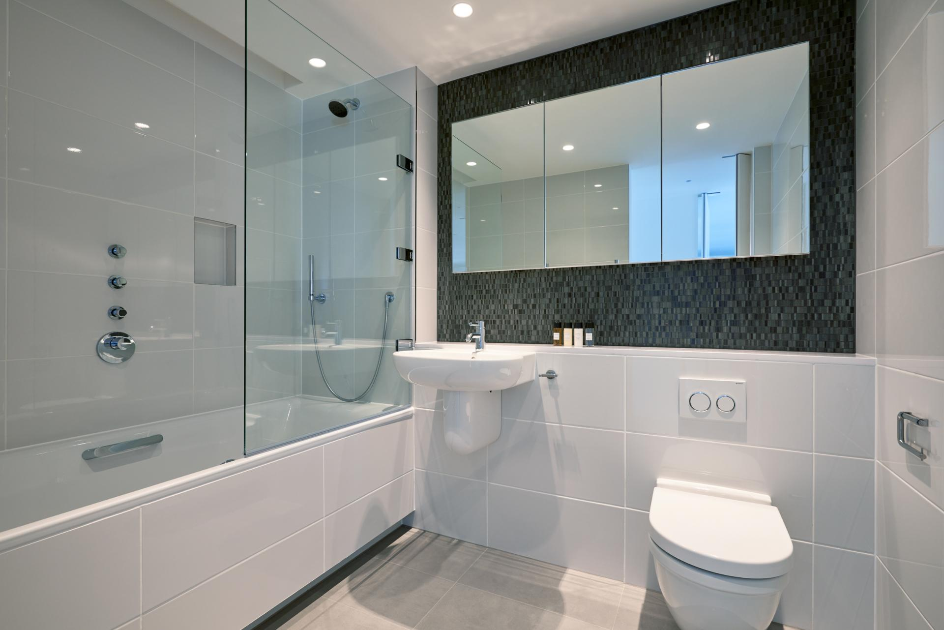 Bathroom at Great Portland Street Apartments, Fitzrovia, London - Citybase Apartments