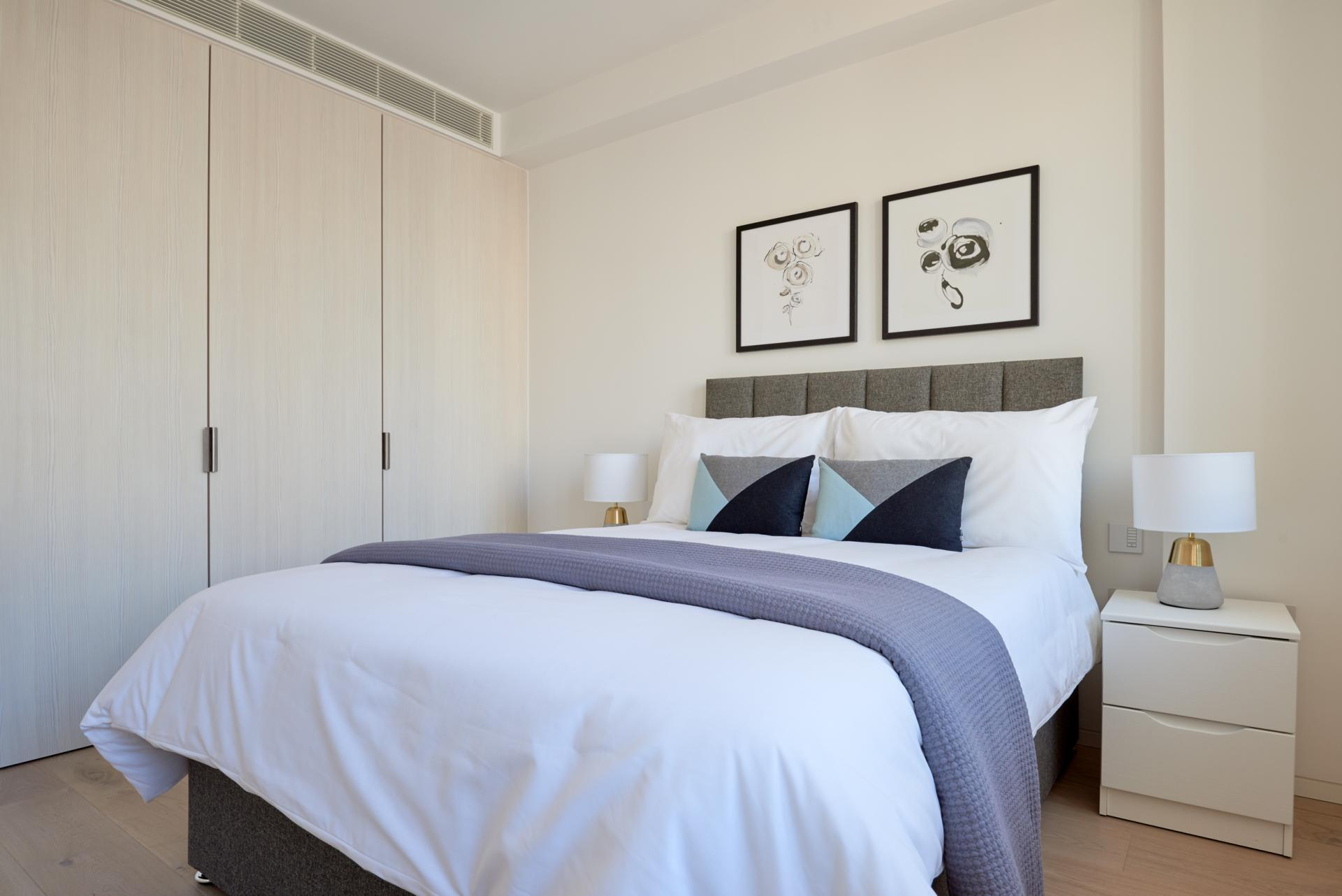 Bedding at Great Portland Street Apartments, Fitzrovia, London - Citybase Apartments