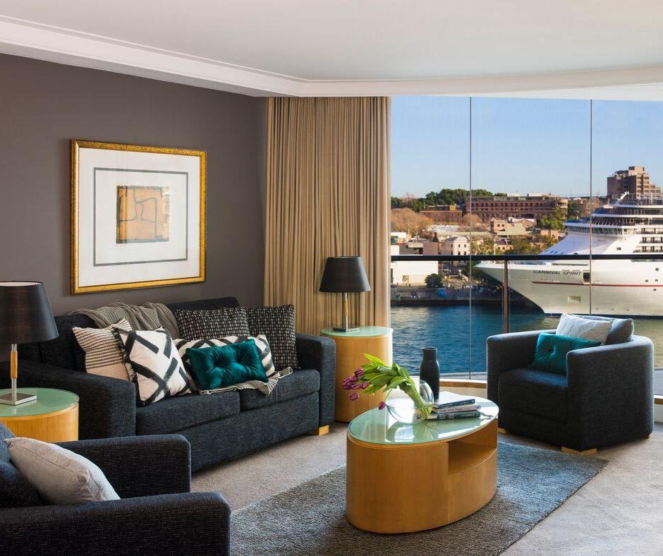 Living room at Pullman Quay Grand Apartments - Citybase Apartments
