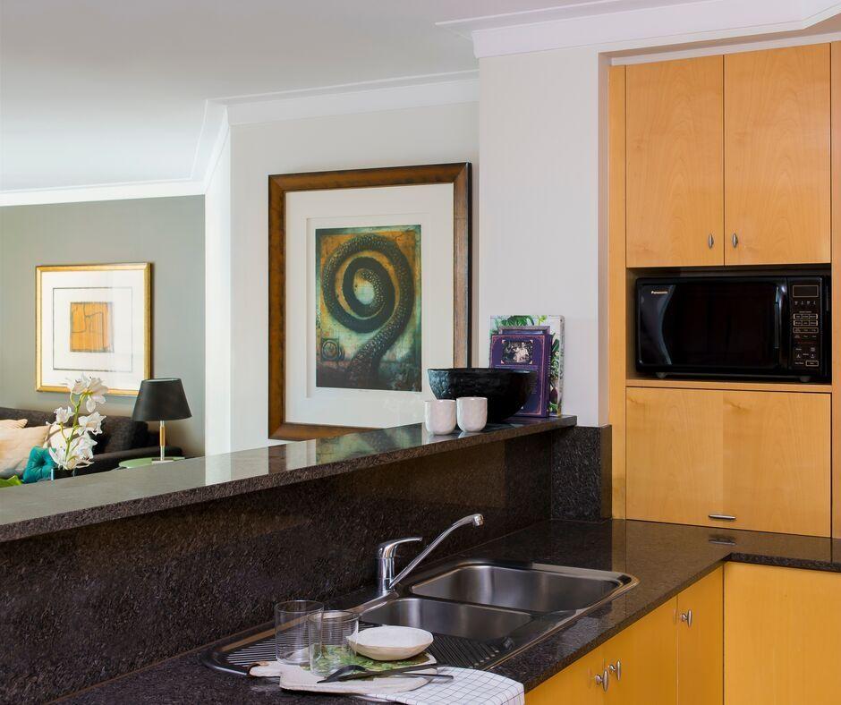 Kitchen at Pullman Quay Grand Apartments - Citybase Apartments
