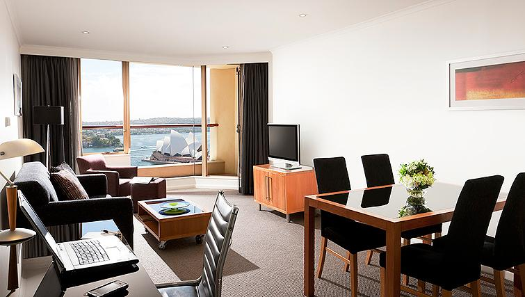 Large living area at Quay West Suites - Citybase Apartments